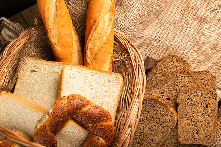 Image of bread in a basket