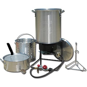 Image of the King Kooker Portable Propane Outdoor Cooker Package with Two Aluminum Pots Product