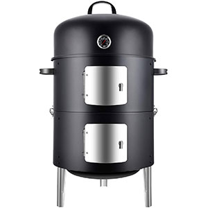 "Image of Realcook Vertical 17"" Inch Steel Charcoal Smoker"
