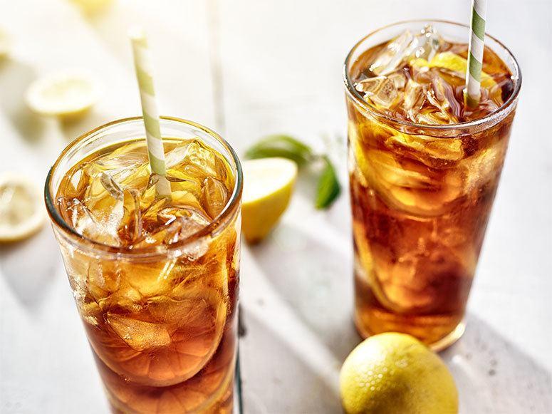 Two glasses of sweet sun tea
